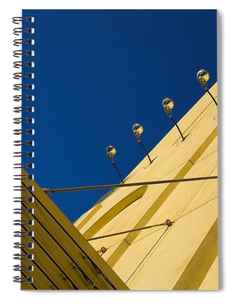 Electric Spiral Notebook featuring the photograph Old School Vegas by Skip Hunt