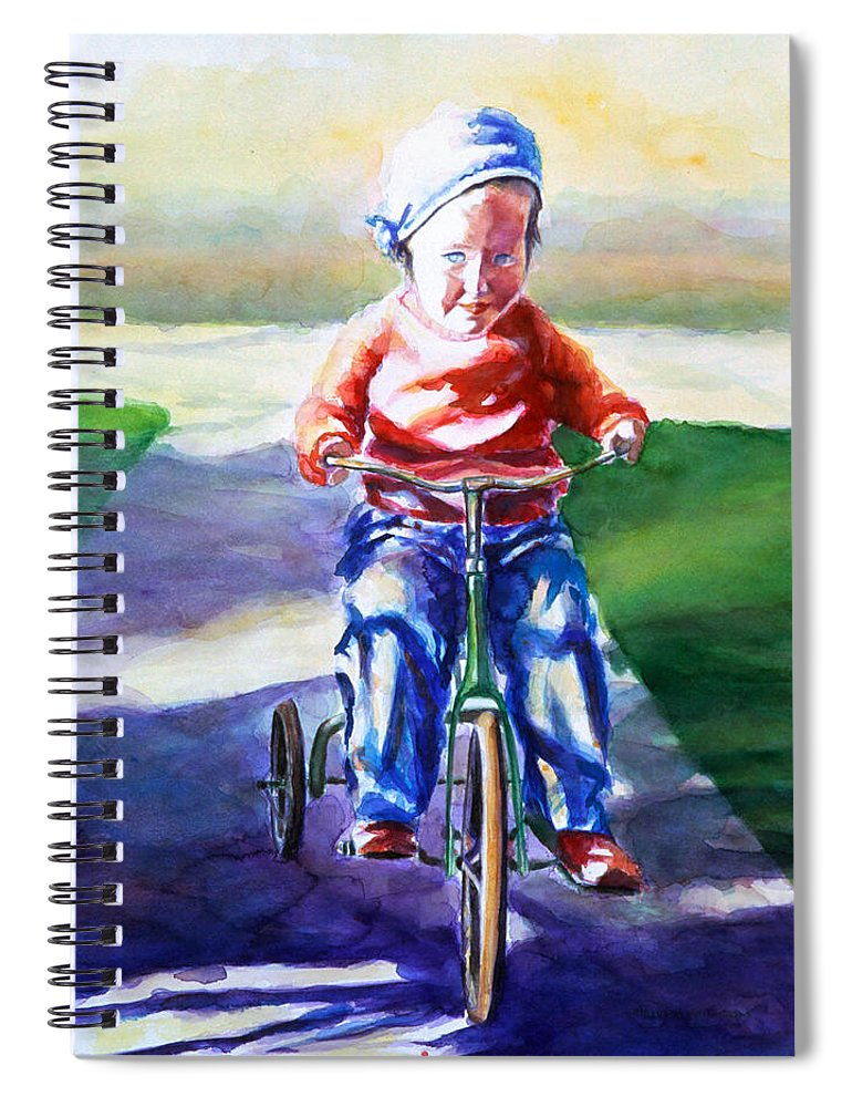 Girl Spiral Notebook featuring the painting Old Soul by Shannon Grissom