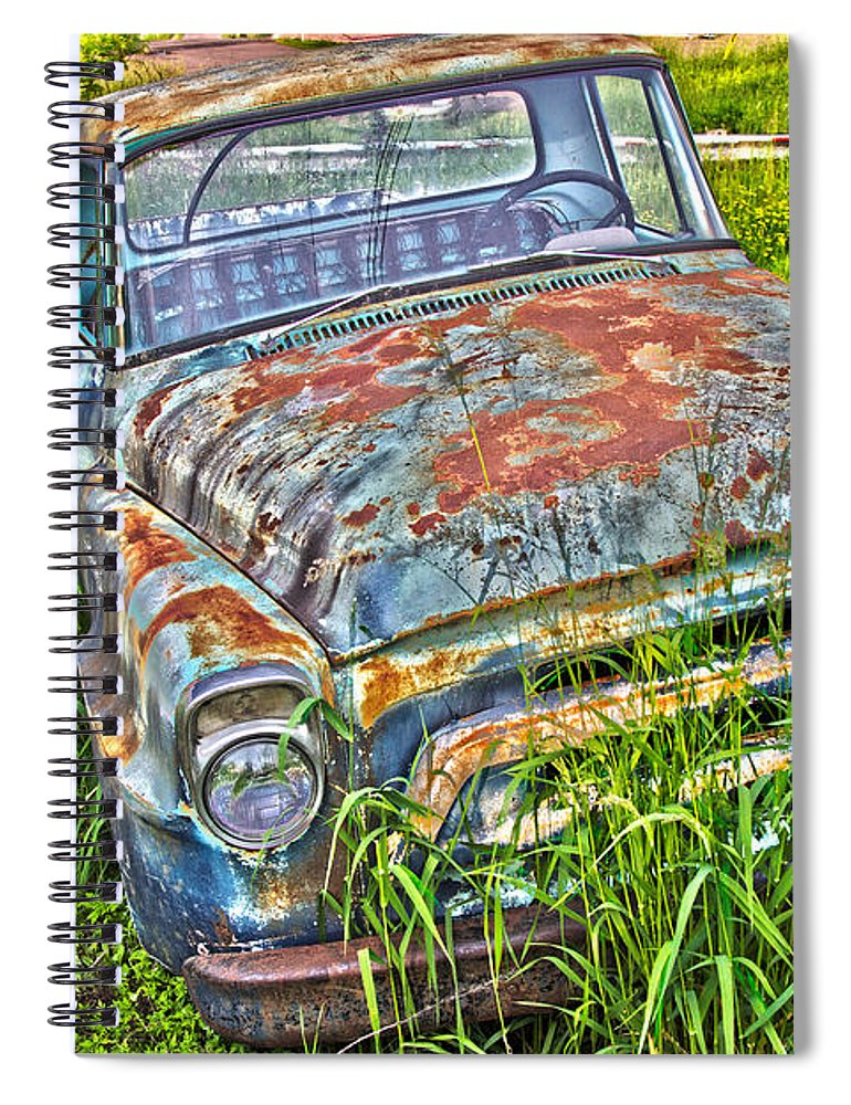 Transportation Spiral Notebook featuring the photograph 001 - Old Trucks by David Ralph Johnson