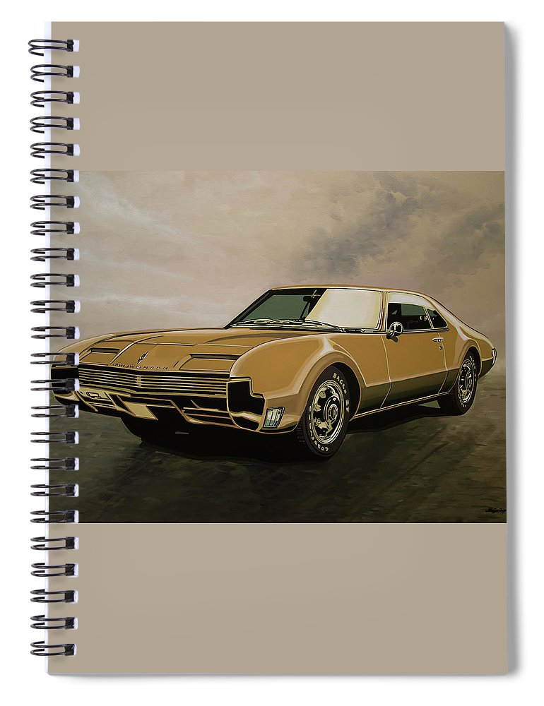 Oldsmobile Toronado Spiral Notebook featuring the painting Oldsmobile Toronado 1965 Painting by Paul Meijering
