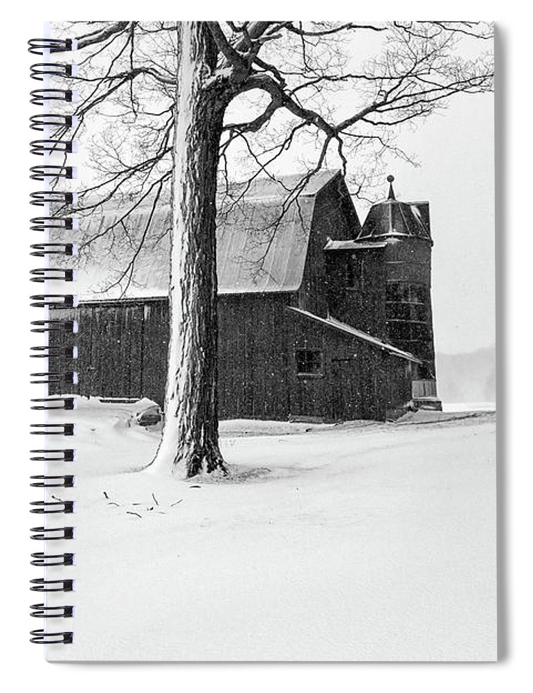 Farm Spiral Notebook featuring the photograph Olsen Farm 2 by Heather Kenward