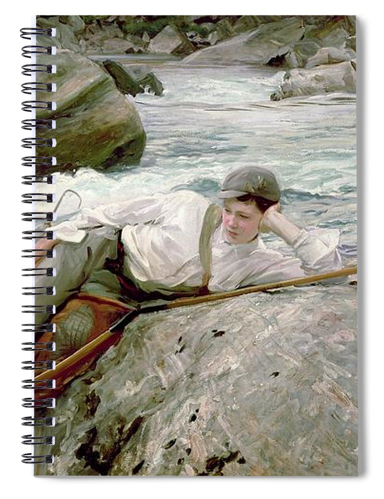 On His Holidays Spiral Notebook featuring the painting On His Holidays by John Singer Sargent