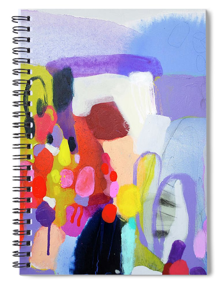 Abstract Spiral Notebook featuring the painting On My Mind by Claire Desjardins