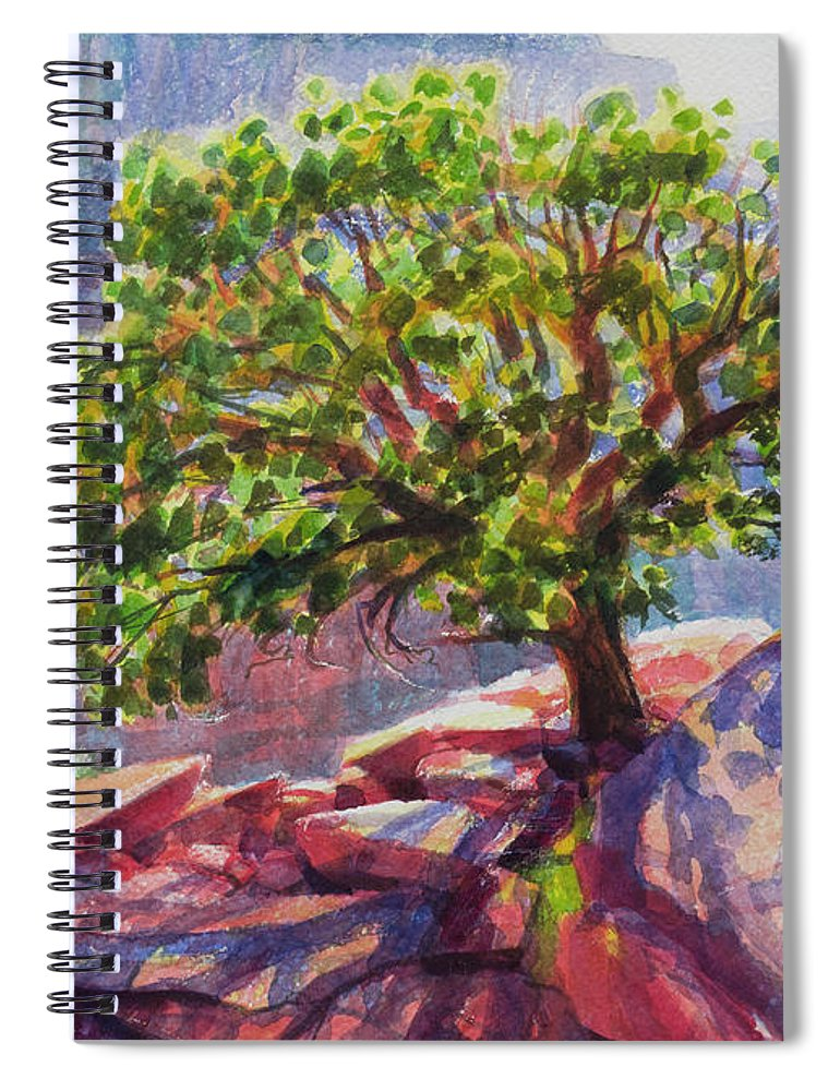 Southwest Spiral Notebook featuring the painting Living On The Edge by Steve Henderson