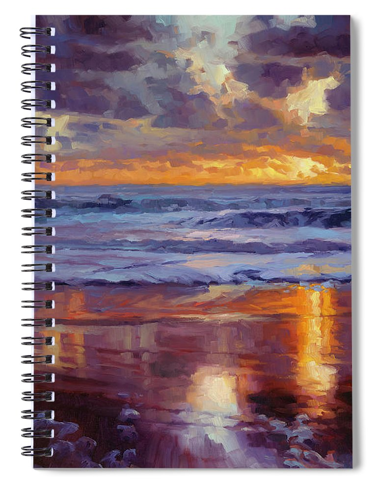 Ocean Spiral Notebook featuring the painting On the Horizon by Steve Henderson