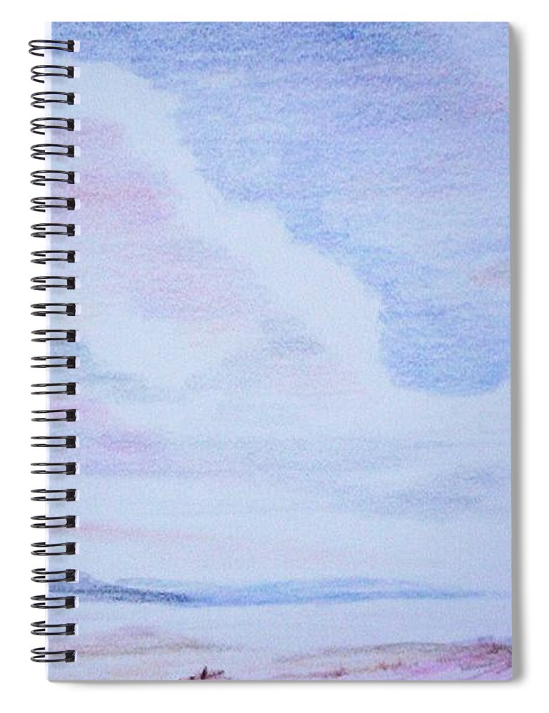Landscape Painting Spiral Notebook featuring the painting On the Way by Suzanne Udell Levinger