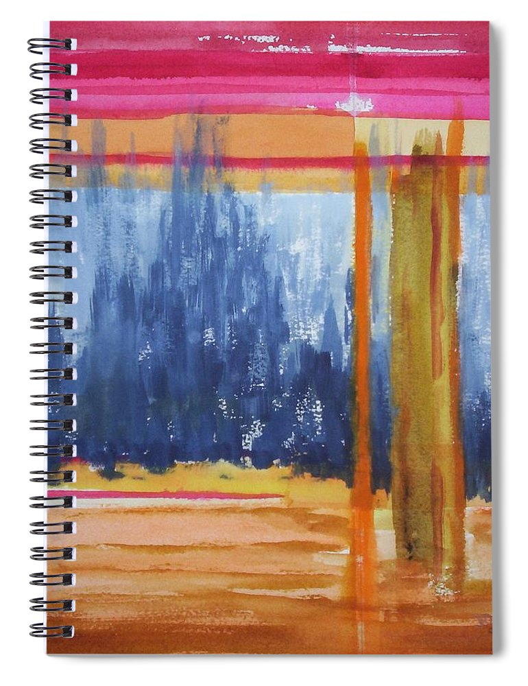 Landscape Spiral Notebook featuring the painting Opening by Suzanne Udell Levinger