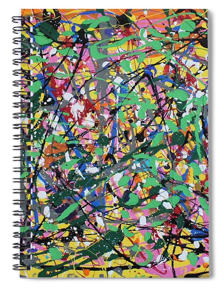 Colorful Spiral Notebook featuring the painting Orange Delight by Pam Roth O'Mara