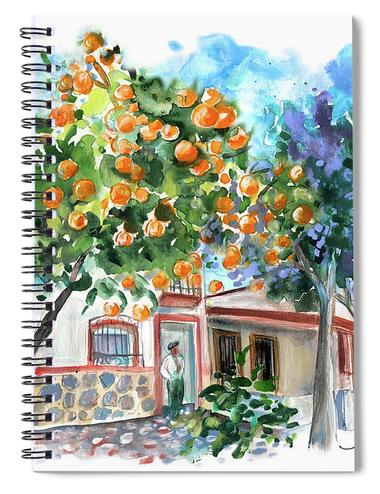 Orange Tree And Jacaranda In Turre In Andalucia Spiral Notebook