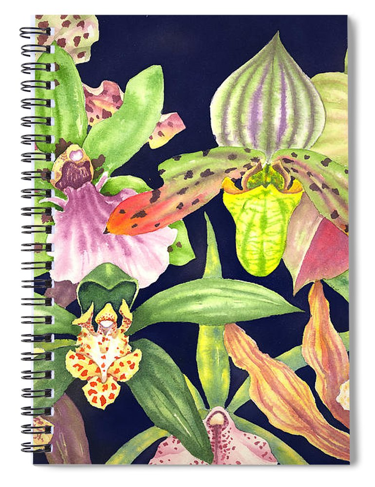 Orchids Spiral Notebook featuring the painting Orchids by Lucy Arnold