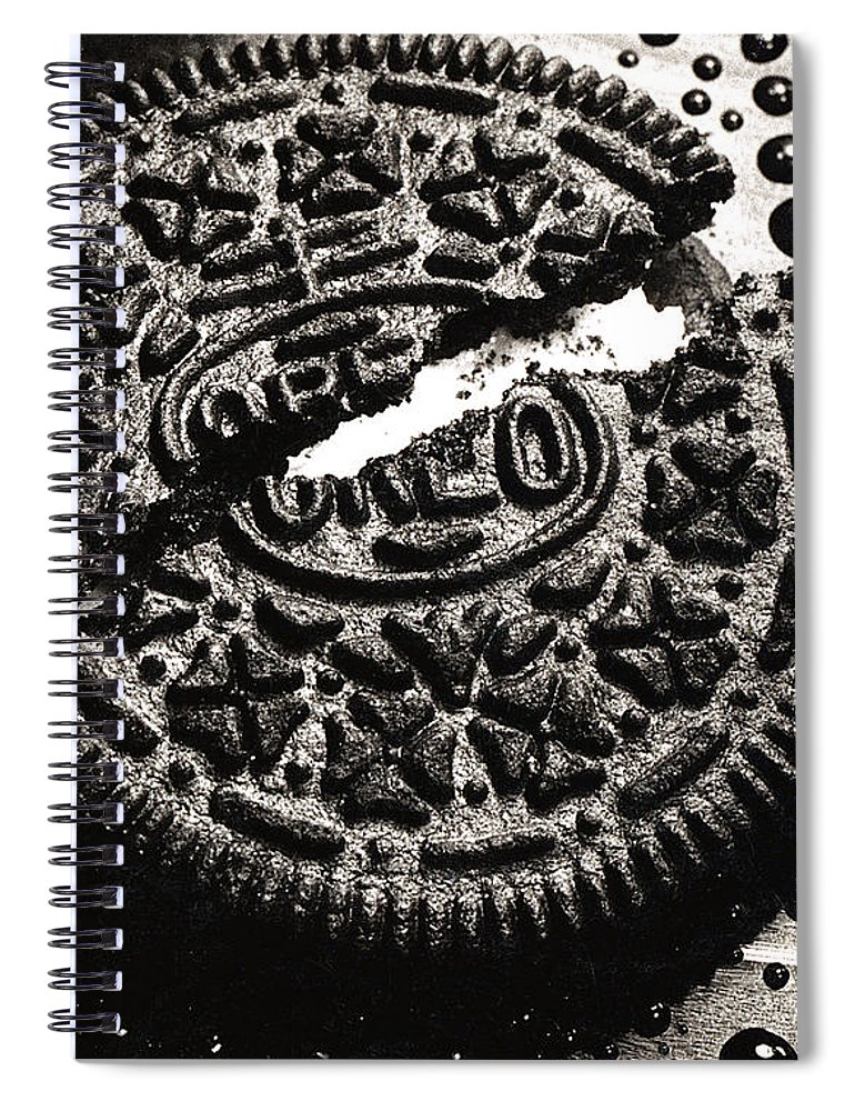 Cookie Spiral Notebook featuring the photograph Oreo Cookie by Nancy Mueller