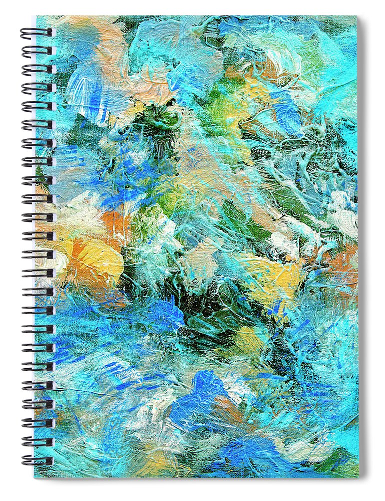 Abstract Spiral Notebook featuring the painting Orinoco by Dominic Piperata