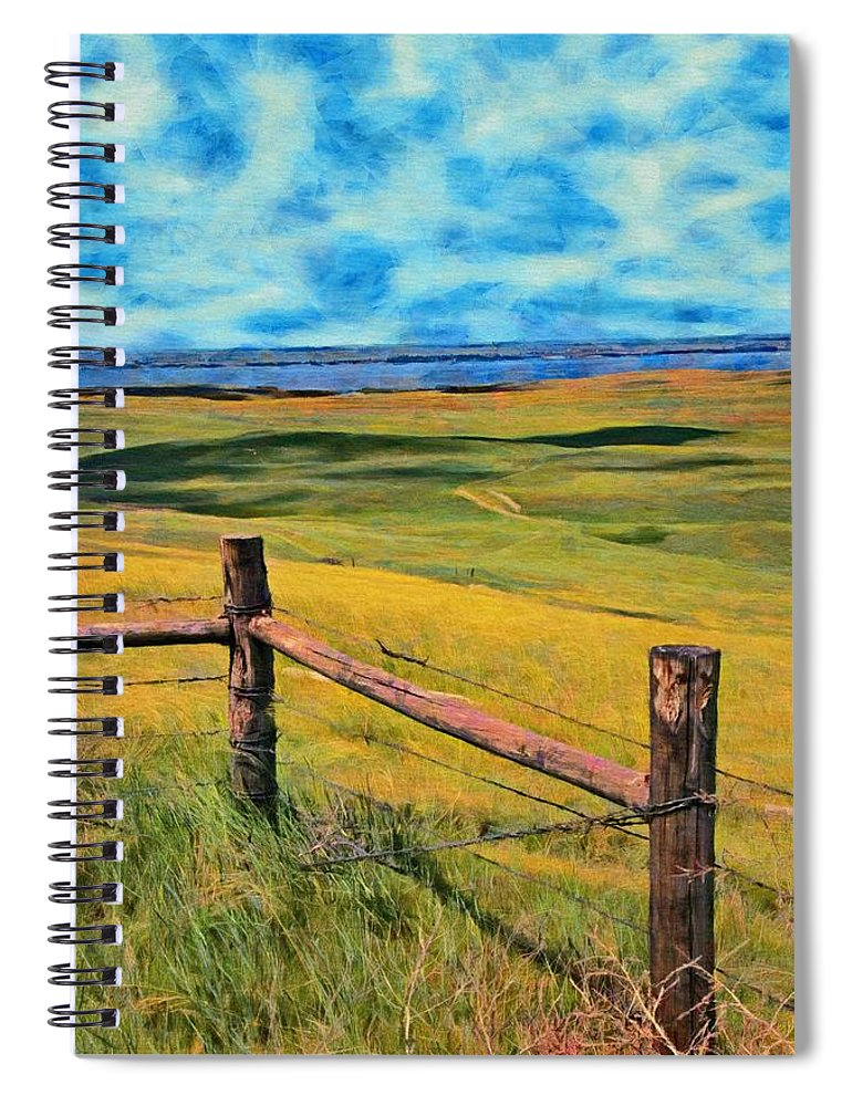 River Spiral Notebook featuring the painting Other Side Of The Fence by Jeffrey Kolker