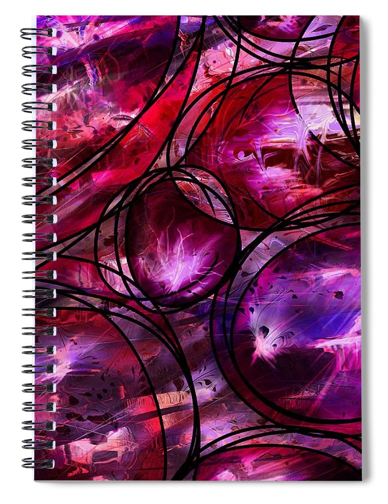Abstract Spiral Notebook featuring the digital art Other Worlds by William Russell Nowicki