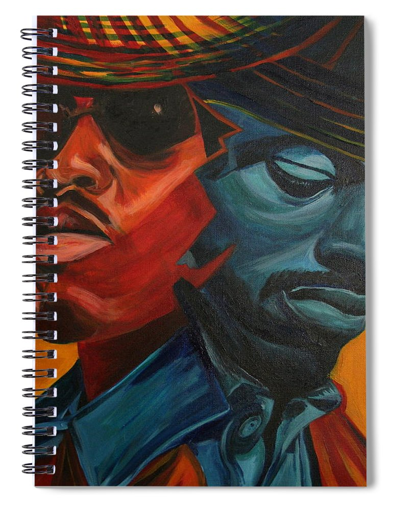 Big Boi Spiral Notebook featuring the painting Outkast by Kate Fortin