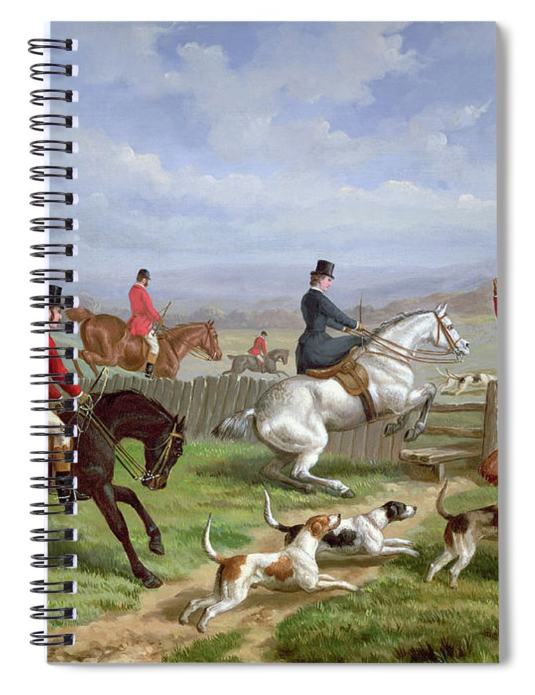 Over Spiral Notebook featuring the painting Over The Fence by Edward Benjamin Herberte