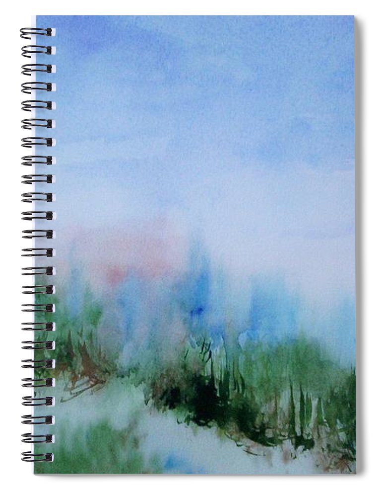 Landscape Spiral Notebook featuring the painting Overlook by Suzanne Udell Levinger