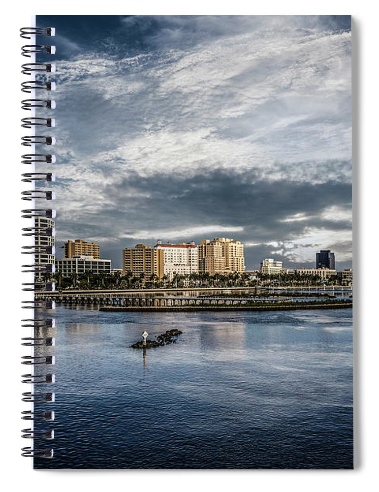 Boats Spiral Notebook featuring the photograph Overlooking West Palm Beach by Debra and Dave Vanderlaan