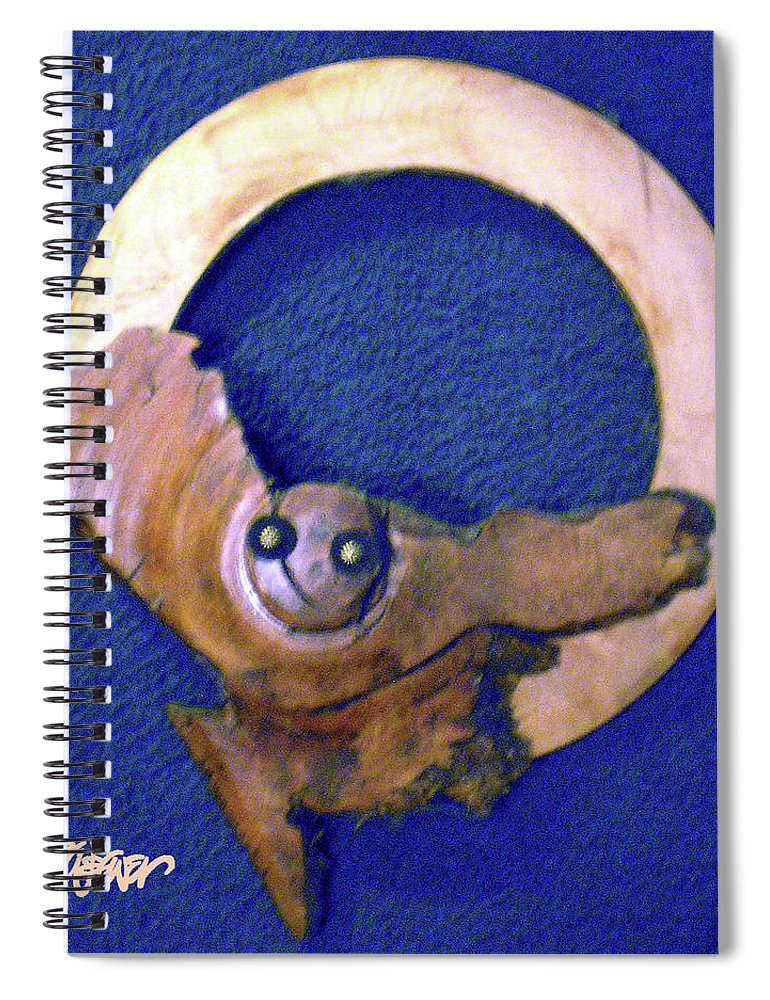 Owl Moon Spiral Notebook featuring the mixed media Owl Moon by Seth Weaver