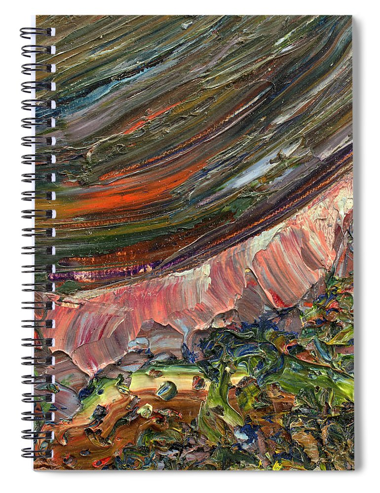 Abstract Spiral Notebook featuring the painting Paint Number 10 by James W Johnson