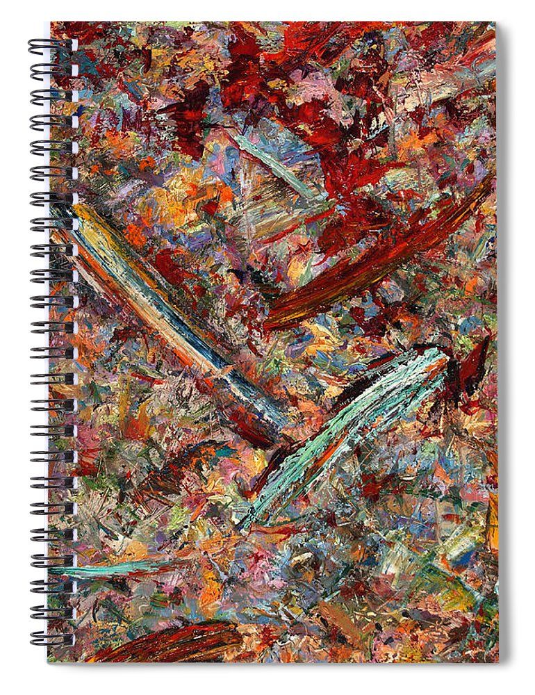 Abstract Spiral Notebook featuring the painting Paint Number 30 by James W Johnson