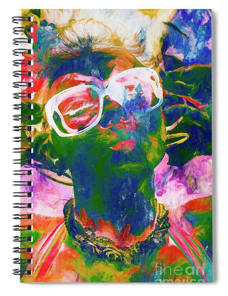 Drawing Spiral Notebook featuring the painting Paint Splash Pinup Art by Jorgo Photography - Wall Art Gallery