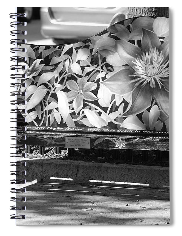 Pop Art Spiral Notebook featuring the photograph Painted Bench by Rob Hans