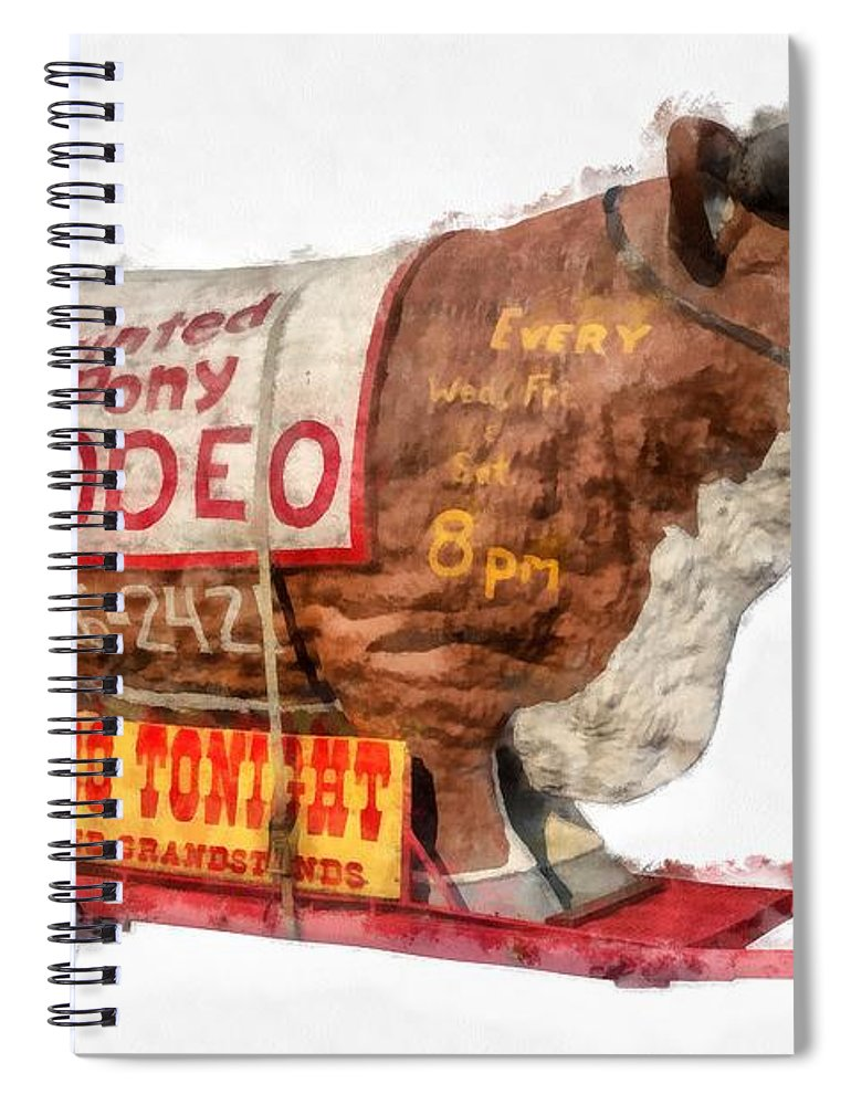 Texas Spiral Notebook featuring the photograph Painted Pony Rodeo Lake George by Edward Fielding