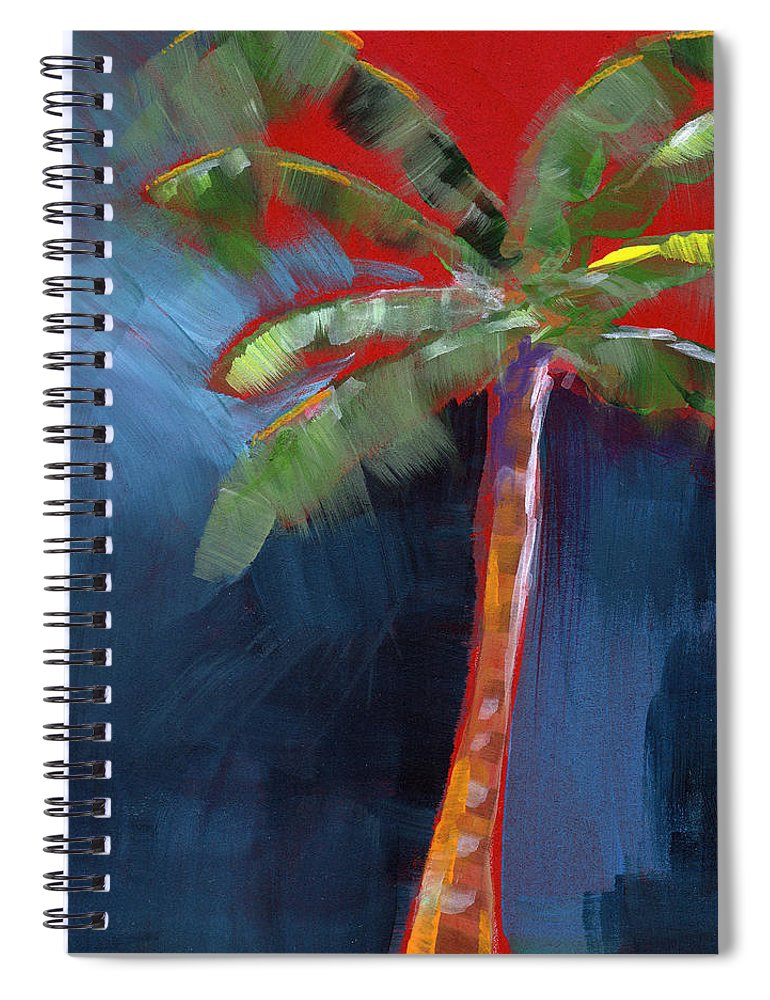 Palm Tree Spiral Notebook featuring the painting Palm Tree- Art By Linda Woods by Linda Woods