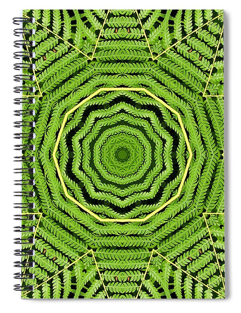 Palm Tree Spiral Notebook featuring the photograph Palm Tree Kaleidoscope Abstract by Rose Santuci-Sofranko