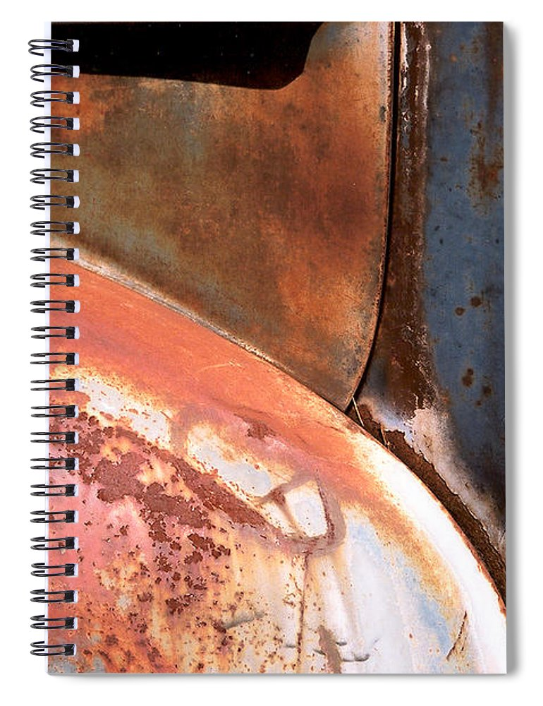 Abstract Spiral Notebook featuring the photograph Panel from Ole Bill by Steve Karol