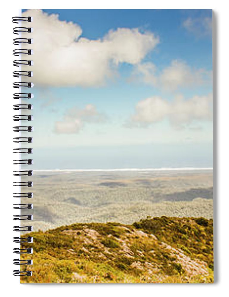 Australian Spiral Notebook featuring the photograph Panoramic Views From Mount Zeehan To Trial Harbour by Jorgo Photography - Wall Art Gallery
