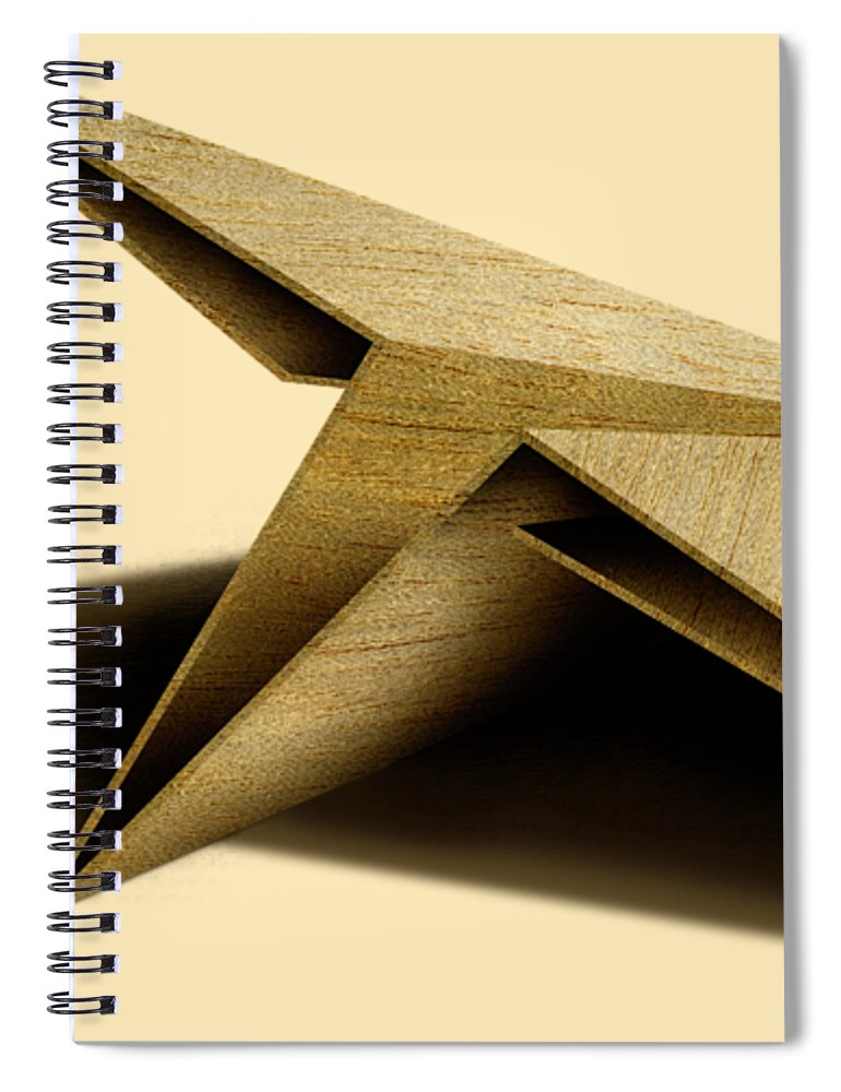 Paper Airplane Spiral Notebook featuring the photograph Paper Airplanes of Wood 7 by YoPedro