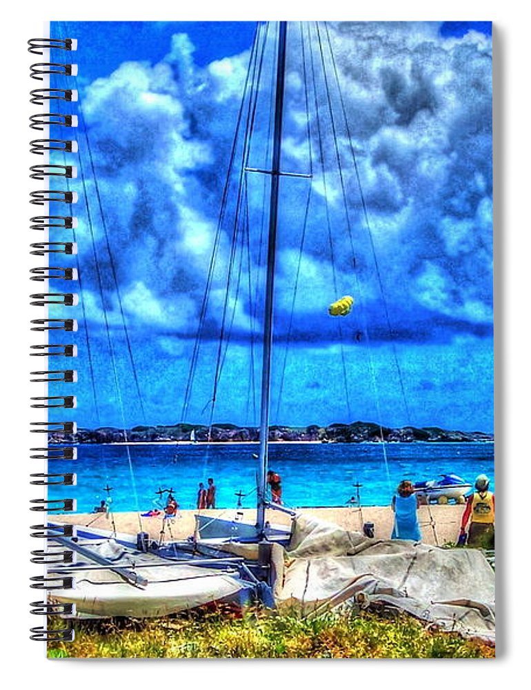 Blue Spiral Notebook featuring the photograph Paradise by Debbi Granruth