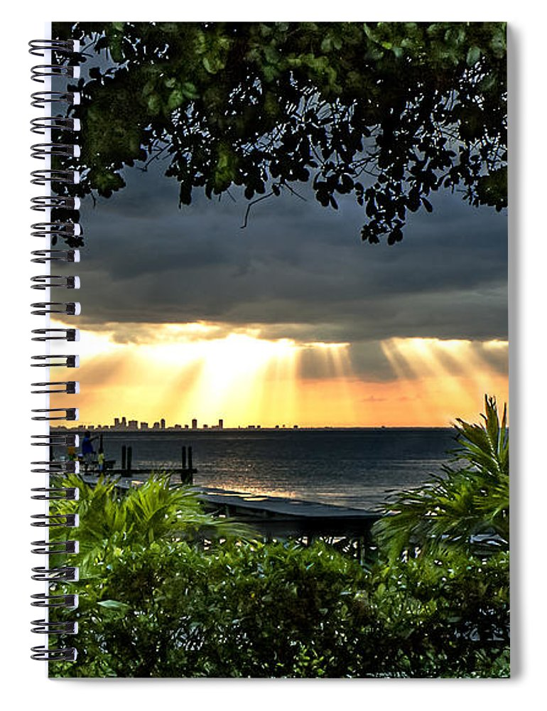 Sunset Spiral Notebook featuring the photograph Paradise Found by Norman Johnson