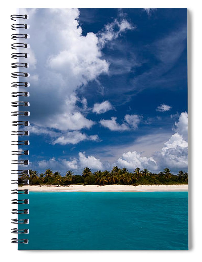3scape Spiral Notebook featuring the photograph Paradise Is Sandy Cay by Adam Romanowicz
