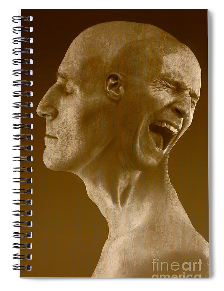 Agony Spiral Notebook featuring the photograph Paranoid Schizophrenia by George Mattei