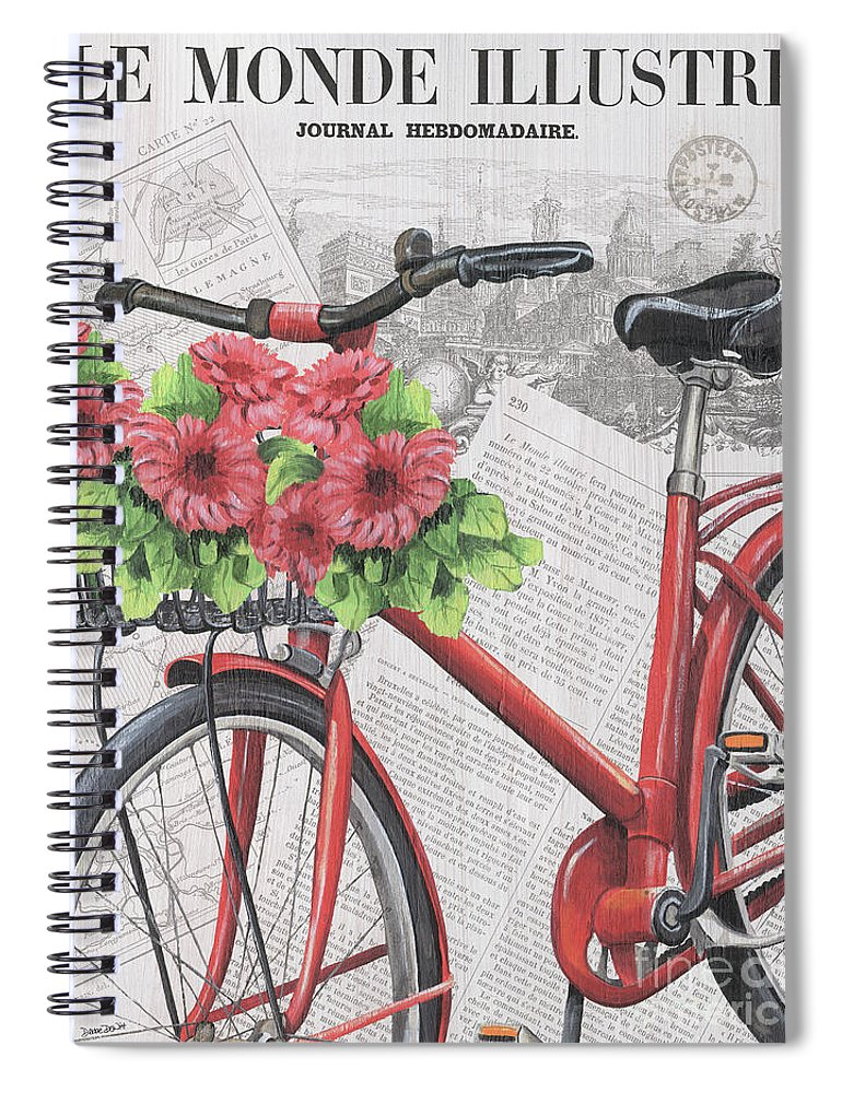 France Spiral Notebook featuring the painting Paris Ride 2 by Debbie DeWitt