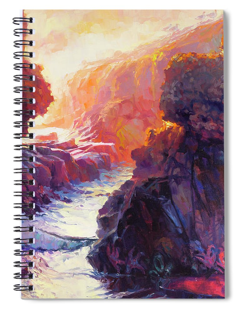 Ocean Spiral Notebook featuring the painting Passage by Steve Henderson