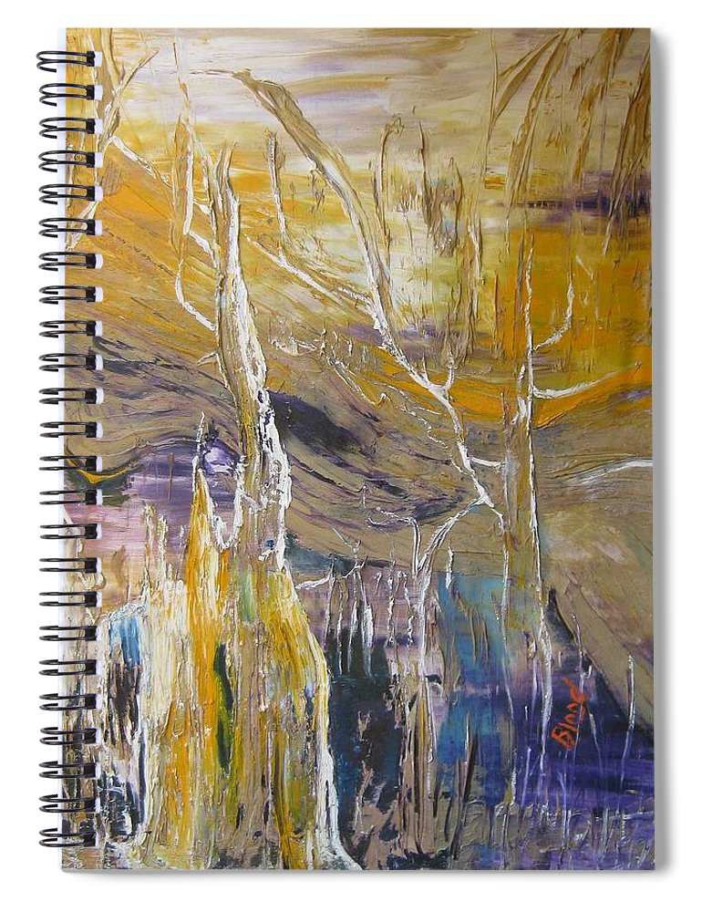 Swamp Spiral Notebook featuring the painting Passing Through by Peggy Blood