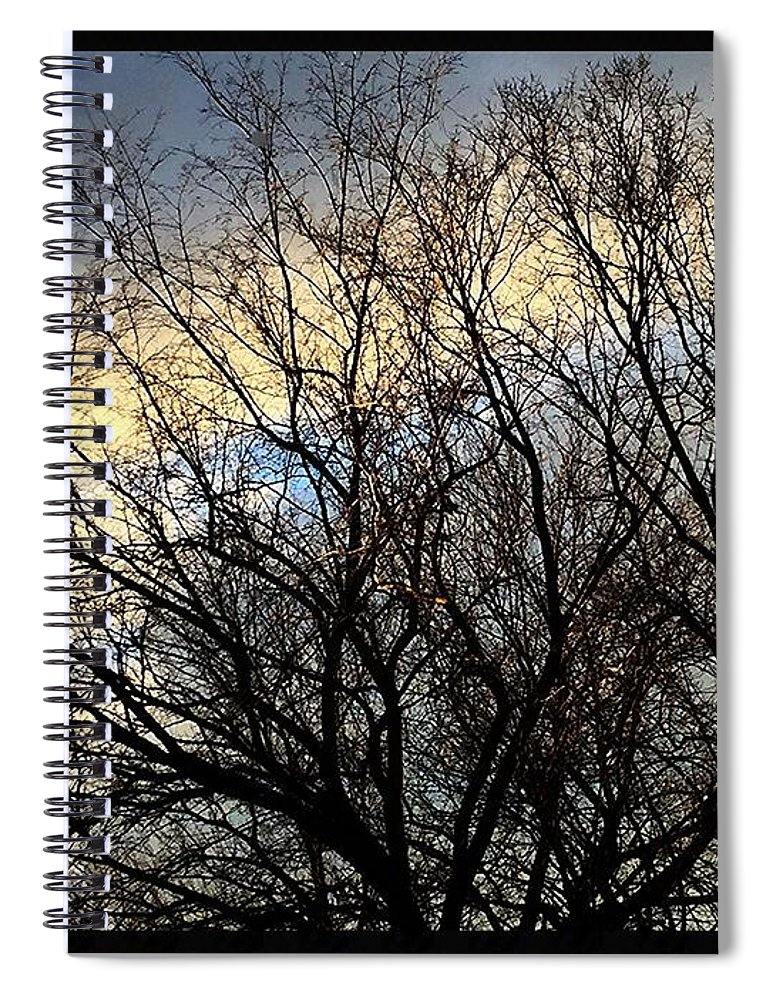Fankjcasella Spiral Notebook featuring the photograph Patterns In The Sky by Frank J Casella