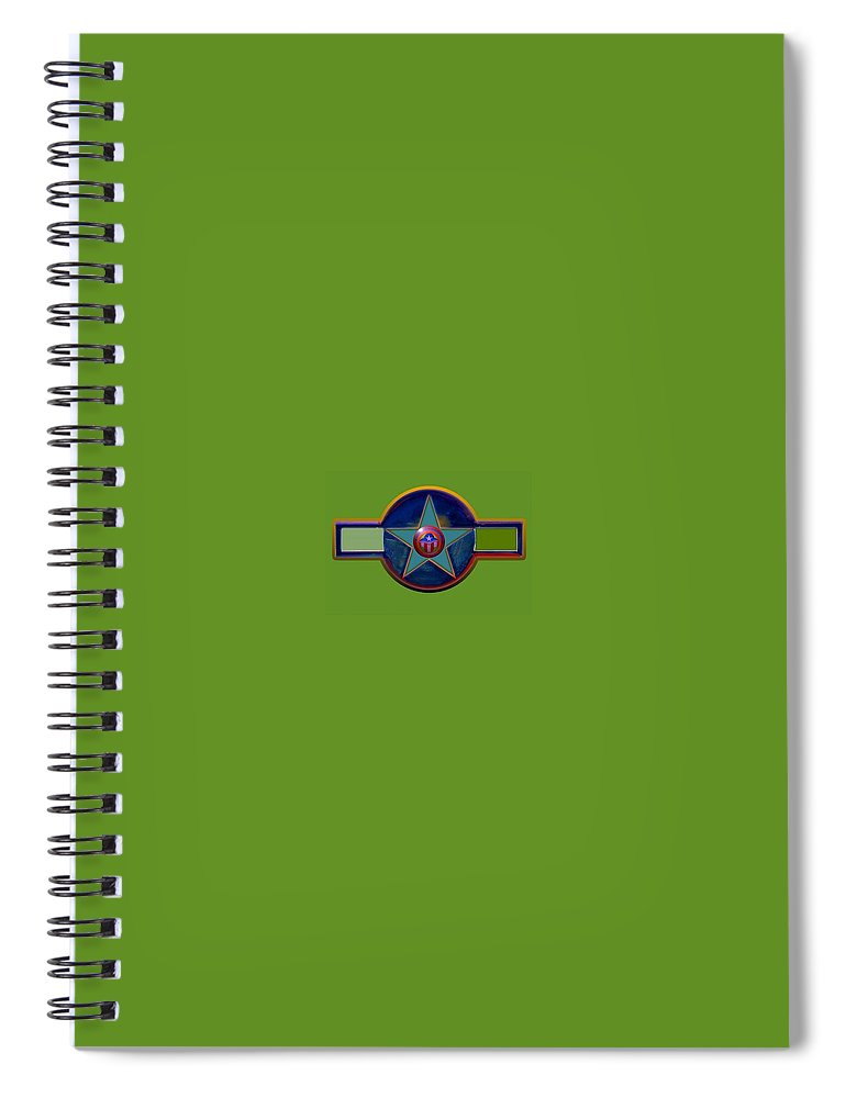 Usaaf Insignia Spiral Notebook featuring the digital art Pax Americana Decal by Charles Stuart