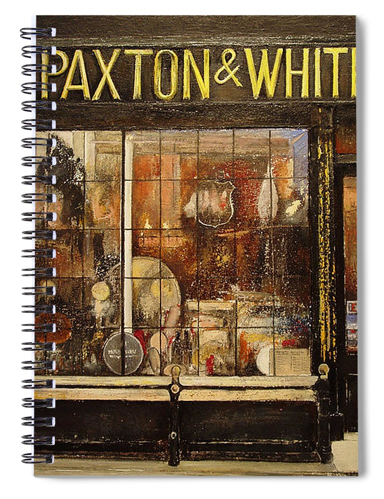Paxton Spiral Notebook featuring the painting Paxton Whitfield .London by Tomas Castano