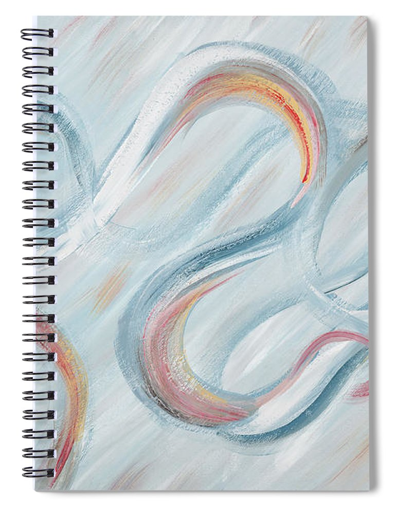 Peace Spiral Notebook featuring the painting Peace by Nadine Rippelmeyer