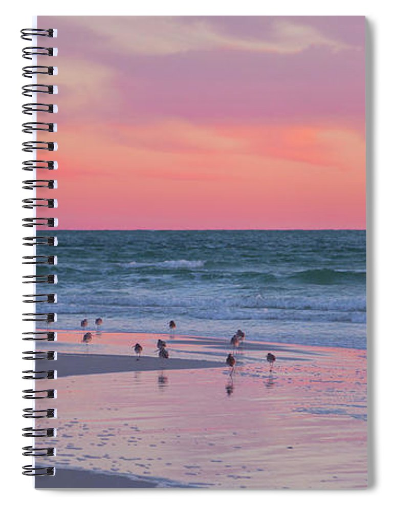 Sunset Spiral Notebook featuring the photograph Peaceful Witnesses by Betsy Knapp