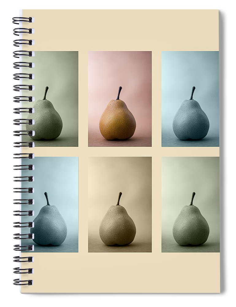 Pear Spiral Notebook featuring the photograph Pears Squared by Carol Leigh