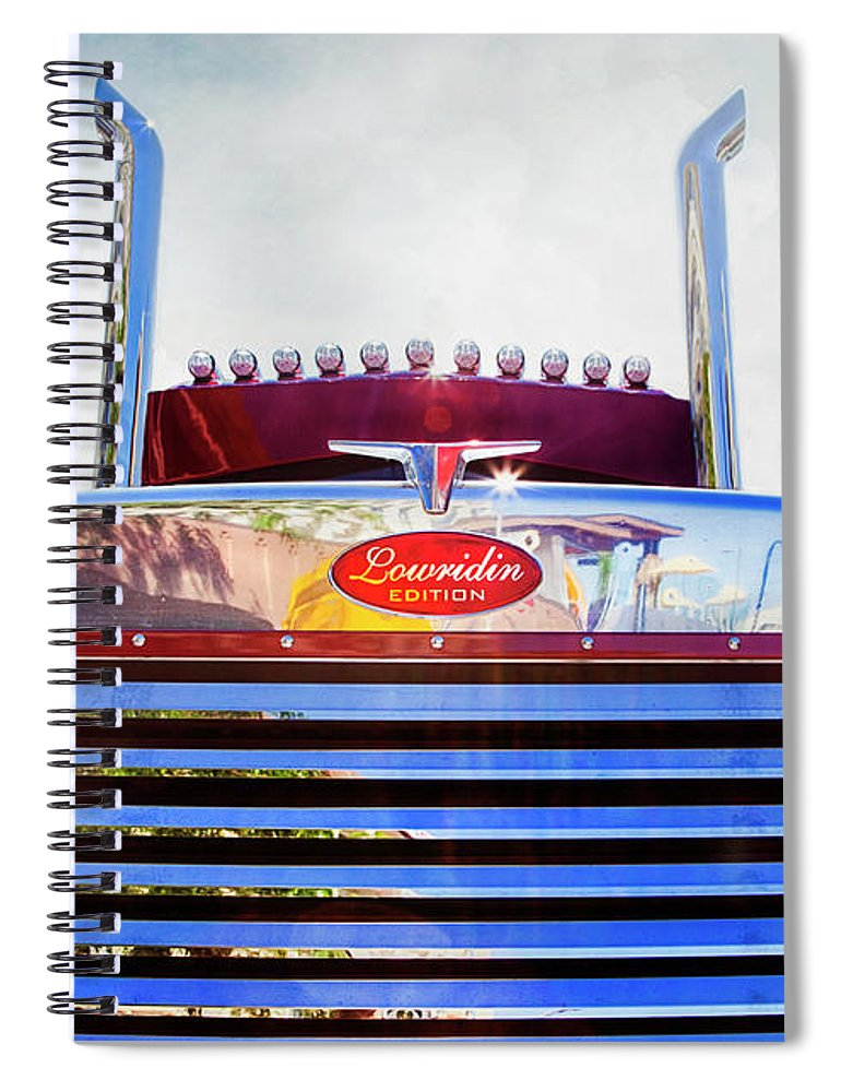 Working Truck Spiral Notebook featuring the photograph Peterbilt Lowridin Edition by Theresa Tahara