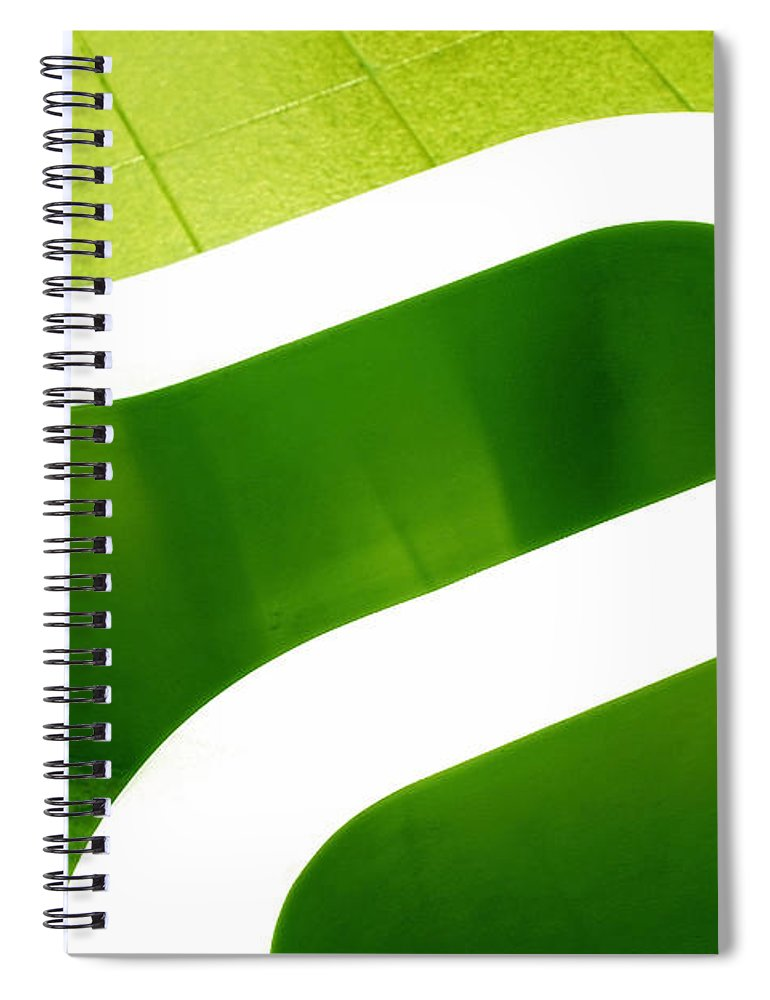 Abstract Spiral Notebook featuring the photograph Pharmacia by Skip Hunt