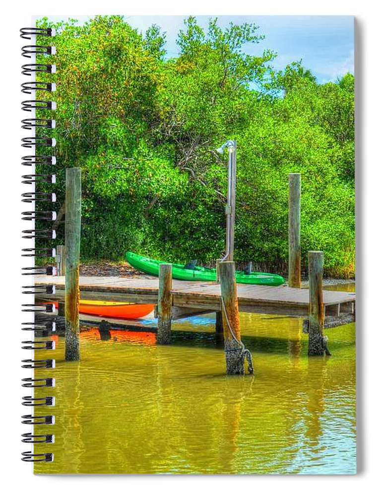 Pier Spiral Notebook featuring the photograph Pier Fish Camp by Debbi Granruth