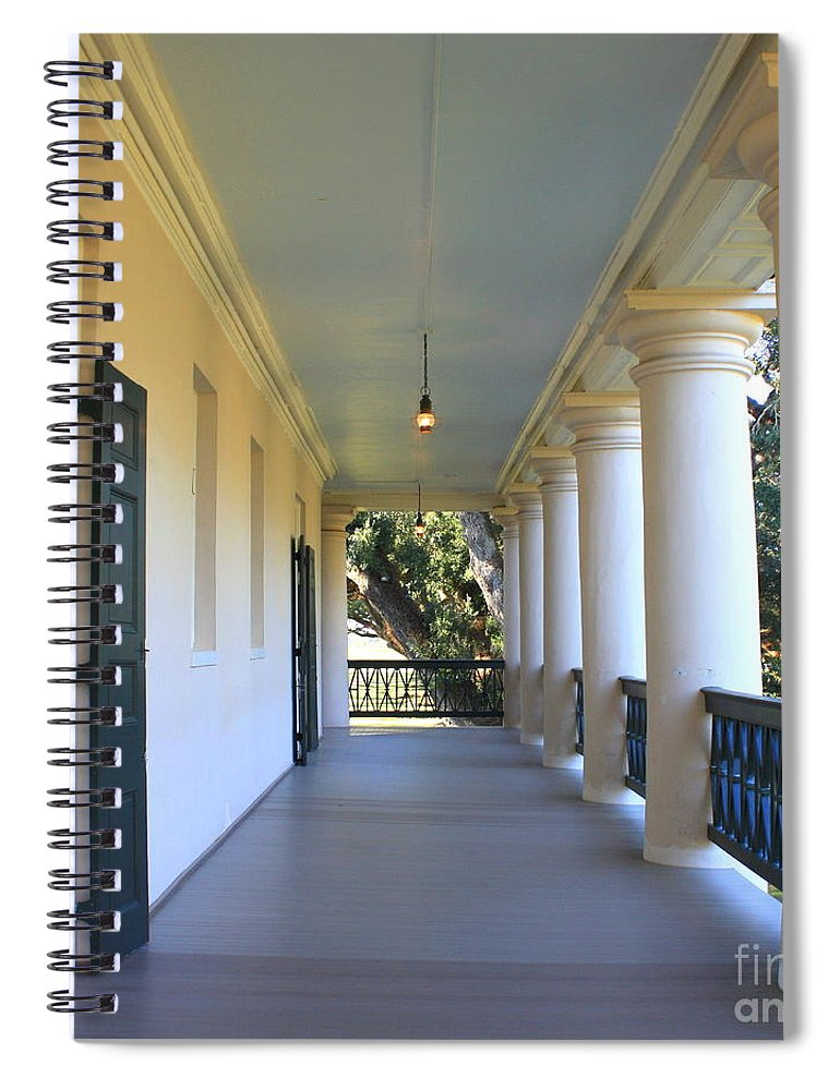 Pillars Spiral Notebook featuring the photograph Pillars Of The South by Carol Groenen